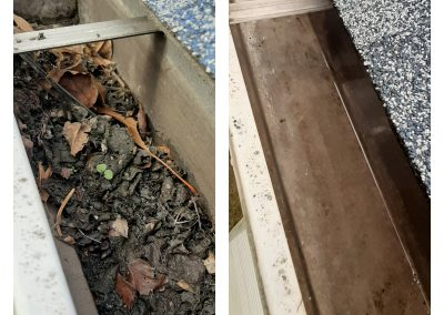 Gutter Cleaned from clog