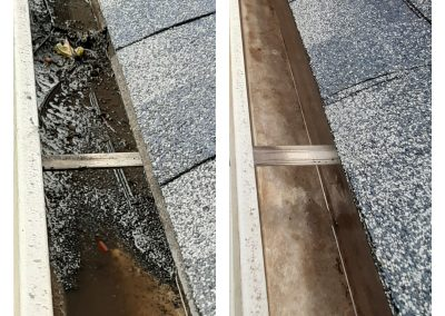 Gutter Cleaned from granules and mud